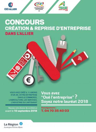 Affiche concours création reprise d'entreprise dans l'Allier